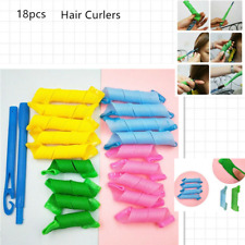 18PCS 25/15cm Magic Long Hair Curlers Leverage Rollers Spiral lot Beauty