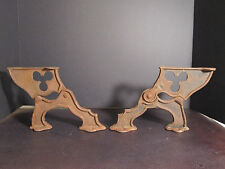 Antique Rare Church Kneeler Prayer Articulated Brackets Indiana Cast Iron Decor