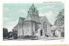First M E Church Elwood In Unused Methodist Episcopal Postcard 6103