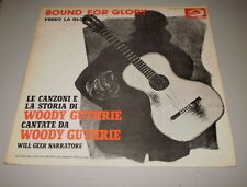 WOODY GUTHRIE -  BOUND FOR GLORY - ITALY PRESS - ALBATROS RECORDS - LP + BOOK -