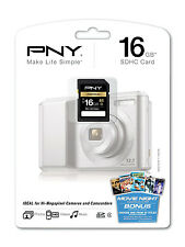 PNY 16G SDHC SD card for Nikon Coolpix S01 S6500 S6400 S6300 S4300 S3300 camera