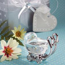 BOMBONIERA CARROZZINA vetro cristallo IDEA REGALO NASCITA BATTESIMO cod 1509