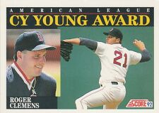 FREE SHIPPING-MINT-1992 Score Boston Red Sox  #790 Roger Clemens CY YOUNG AWARD