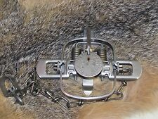 1 Duke #1 Coil Spring Traps Raccoon Mink Nutria Muskrat  Trapping 0469 NEW SALE