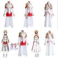 SAO Sword Art Online Dress Asuna Yuuki Costume Halloween Anime Cosplay Full Set