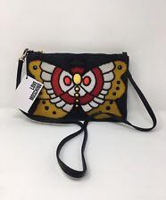 LOVE MOSCHINO Black Butterfly Borsa Nappa PU Cross Body Bag