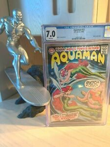 Aquaman 22 CGC 7.0 WHITE Pages! Classic 1960s DC Series Justice League 1965