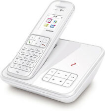T-Home Sinus A406 Schnurlos Telefon mit Anrufbeantworter WEISS Schnurloses DECT