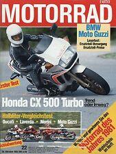 Motorrad 22/81 1981 Honda CX 500 Turbo Malaguti Cavalcone Guzzi V50 DKW Morini