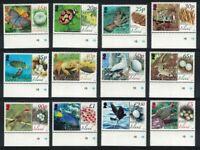 Ascension Birds Butterflies Fauna and their Eggs 12v Margins MNH SG#987-998