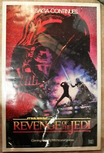 Original Revenge of the Jedi Poster 1982. Second Advance. Flat. No folds.