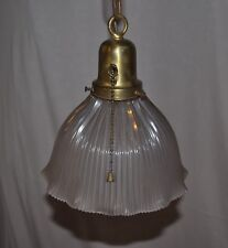 HOLOPHANE U.S.A. Ceiling fixture with RIBBED & PINCHED SHADE PAT. DATE 10.29.12!
