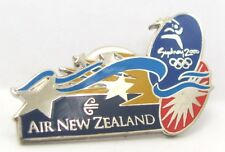 AIR NEW ZEALAND SILVER AIRLINE SYDNEY OLYMPIC GAMES 2000 PIN BADGE COLLECT #202