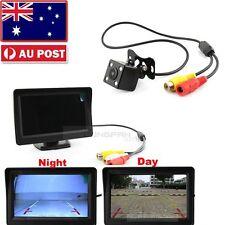 "Car Rear View Kit 4.3"" TFT Monitor+Waterproof Reversing Camera Nightvision Set"