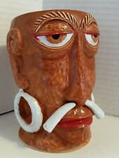 Vtg Mr Bali Hai Headhunter Tiki Mug Shelter Island San Diego CA Concave Bottom