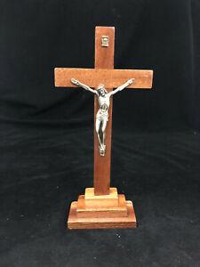 Standing Religious Wooden Cross with Jesus