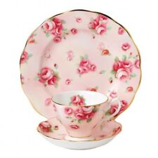 ROYAL ALBERT ART. 40017535 TAZZA TE' CON PIATTINO+PIATTO 20 CM ROSE BLUSH 1980