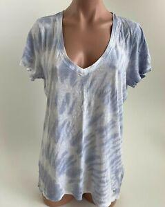 Victoria's Secret PINK Short Sleeve Scoop Neck Tie Dye T-Shirt  Gray Size L NWT