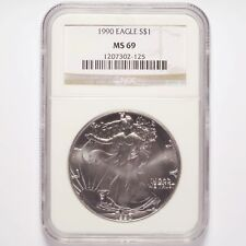 1990 Silver American Eagle Dollar NGC MS69