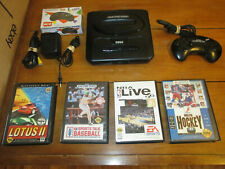 Sega Genesis Console MK-1631 Model 2 w/ 4 Games & 2 Controllers Working #1