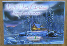 20 Leanin Tree CHRISTMAS Cards, NORTH WOODS CHRISTMAS, CABIN, DEER, WOLVES, SNOW