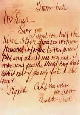 Framed Print - Jack the Ripper Letter (Serial Killer Picture Poster Art Replica)