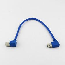 USB 3.0 A Male Plug Left Angle to USB B Male 90 Degree Left Angled Cable Leads