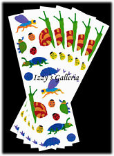 Mrs. Grossman's Vintage Opal Bugs Snails LadyBugs Fly Stickers Lot 5 Strips
