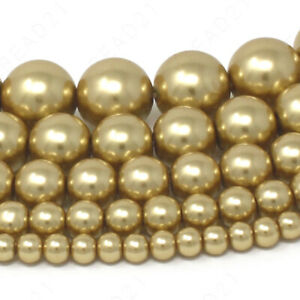 """Czech Opaque Glass Beads Round Pearl Coated 4mm 6mm 8mm 10mm 12mm 16"""" Strand"""