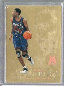 1998/99 Skybox Molten Metal Titanium Gold Fusion Marcus Camby #4F