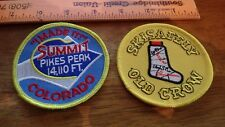 SUMMIT PIKES PEAK COLORADO  SKI SAFETY OLD CROW SKIING  PATCH  BX P #9