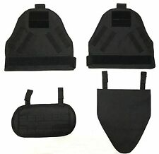 New Airsoft Molle SpecOps Shoulder Protector Pads + G Protector Pad Sets Black