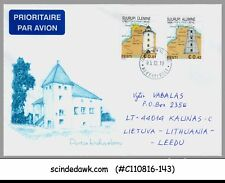 ESTONIA - 2010 AIR MAIL ENVELOPE LITHUANIA WITH LIGHTHOUSE STAMPS