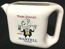 Rare Vintage Martell Cognac Bar Pitcher Water Jug Make Friends Advertising