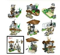 SET WW2 Army Camouflage soldiers weapons figure A Lego Toys Custom