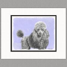 Poodle Dog Original Art Print 8x10 Matted to 11x14