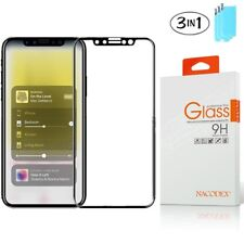 3X Nacodex For Apple iPhone X 3D Full Cover Tempered Glass Screen Protector