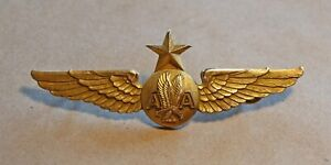 Vintage American Airlines Flight Attendant Wings with Star Pin