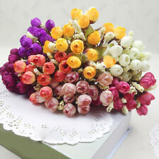 15 Heads Rose Artificial Silk Flowers Peony Bridal Wedding Garden Home Decor