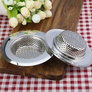 """4.5"""" Stainless Steel Kitchen Bath Sink Strainer Drain Stopper Deep Mesh Filter"""