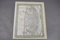 Antique St Louis Map Augustus Mitchell 1870 Paper Print Missouri