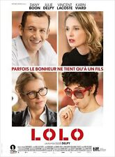 Affiche 40x60cm LOLO 2015 Julie Delpy, Dany Boon, Vincent Lacoste NEUVE
