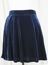 BLUE VELVET Short Skater Skirt - Sz L LARGE - Grunge - Made in the USA