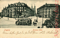 AK Legnica (Liegnitz) Schles., Breslauer Platz, Strassenbahn, 1906, 16/04