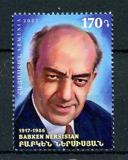 Armenia 2017 MNH Babken Nersisian Soviet Actor 1v Set Film Famous People Stamps