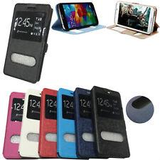 Flip Cover a Libro Magnetica S-view Touch Slim Pelle in per Huawei Ascend Mate S Blu