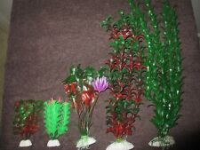 5X Aquarium Plastic Plants Ornament Small Medium Large Bulk Buy lot 2