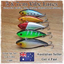 5pcs 7cm HARD BODY VIBE FISHING LURES VIBRATING JERKBAIT LURES FLATHEAD SALMON