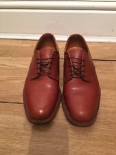 Mens Vintage Savile Row Tan All Leather Formal Oxford Dress Shoes 5 1/2 UK Made