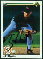 Original Autograph of Billy Ripken of the Orioles on a 1990 Upper Deck Card